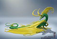 Imagine super heróis se transformado em dragões - Loki Dragon