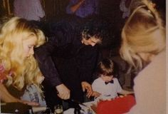 Patricia Ecker, Jimmy Page and 2-year-old son James Patrick on his 2nd birthday.