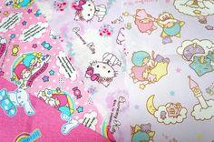 【2012】fabric scrap ★Little Twin Stars★