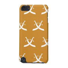 Swords White Orange iPod Touch (5th Generation) Case http://www.zazzle.com/swords_white_orange_case-179612496091690501?utm_content=buffera8284&utm_medium=social&utm_source=pinterest.com&utm_campaign=buffer #phonecase #swords