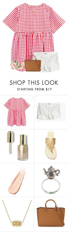 """Didn't know I was falling till I hit the ground"" by livnewell ❤ liked on Polyvore featuring J.Crew, Stila, Tory Burch, Hourglass Cosmetics, Kendra Scott and Tiffany & Co."