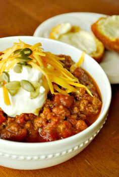 Pumpkin Chili - because this time of year, pumpkin makes everything better.