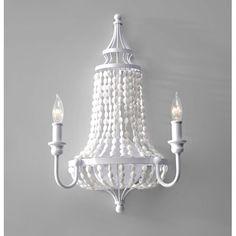 Maarid White Semi Gloss 20.5 Inch Two Light Wall Sconce Feiss 1 Light Armed Glass Wall Sco