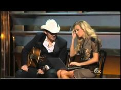 Brad Paisley and Carrie Underwood Perform 'Obamacare by Morning' Ya'all can tell the few misinformed, checked out (Taylor Swift), Obama supporters, or maybe thats just botox on Faith Hill's face @0:42 because she has abosolutely no expression or she's jealous.  It's probably both.  BTW Faith Hill and Tim McGraw are in fact Obama supporters...but Tim looked like he was enjoying it. Bawahaha!!!