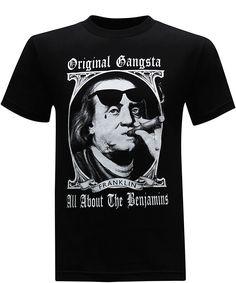 9196ab8285b Click to Buy    Summer Print T Shirt Men s Crew Neck Original Gangster.