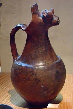Etruscan jug with a spout in the shape of an animal C.600-BCE Tuscany Agriturismo Giratola