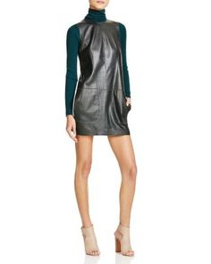 Vince Leather Shift Dress - 100% Bloomingdale's Exclusive | Bloomingdale's
