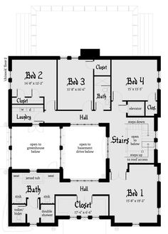 Historic style home plan with European Castle influences (House Plan has over 5000 sq. The 2 story floor plan has 4 bedrooms. The Plan, How To Plan, Minecraft Houses Blueprints, House Blueprints, House Layout Plans, House Layouts, Building Section, Building A House, Castle House Plans