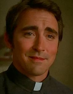I'm totally having a 'Thorn Birds' moment looking at Lee Pace dressed as a priest.