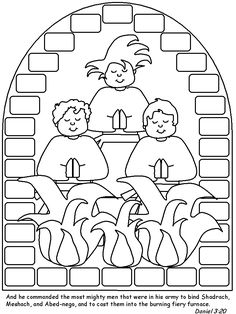 shadrach meshach and abednego coloring page free printable coloring pages