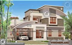 Kerala home design and floor plans: 3 bedroom contemporary mix house exterior Three Bedroom House Plan, Bedroom House Plans, House Design Pictures, Small House Design, Simple House Plans, New House Plans, House Plans With Photos, Architectural Design House Plans, Model House Plan