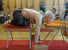 1000 images about iyengar yoga chair arm balances on