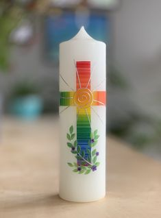Communion, Baptism Candle, Candle Packaging, Wooden Crates, Handmade Candles, Handicraft, Pillar Candles, Diy And Crafts, Blog