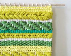 Tejido Arte 'Maravilla' arte de la fibra de por WallflowerWeavings