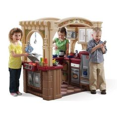 REALISTIC PLAY KITCHEN Grand Walk-In Kitchen & Grill™ Step2 Free Shipping #Step2