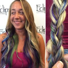 Galaxy hair by Kristina!   Have fun with your color here at Eclips salon. Reserve your appointment today at (703) 327-9408 or visit
