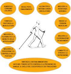 Benefits of Nordic Walking. Scuola Nordic Walking Padova www.nordicwalking-girona.blogspot.com Benefits Of Walking, Nordic Walking, Stress, Health, Infographics, South Africa, Salud, Health Care, Infographic