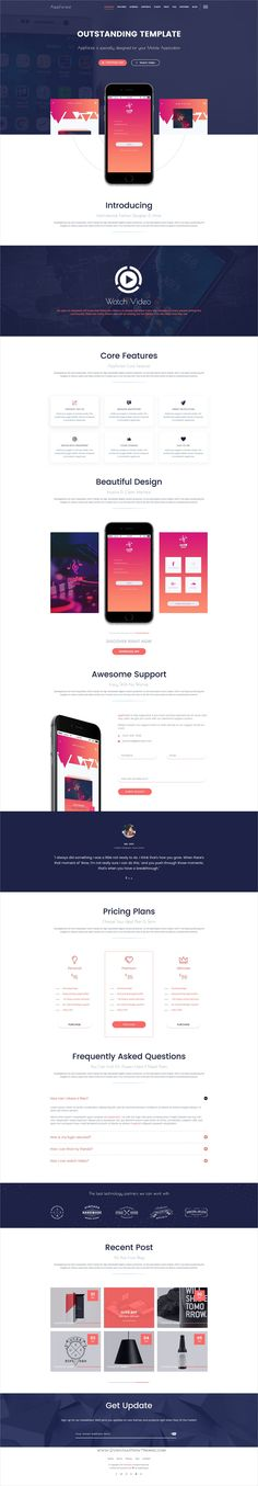 AppForest is a wonderful #Photoshop template for #onepage #software, mobile #apps landing page websites download now➩  https://themeforest.net/item/appforest-awesome-mobile-app-psd-template/19349861?ref=Datasata
