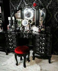 Gorgeous goth vanity