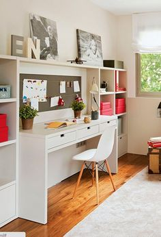 modern kids furniture for studying area in teenage bedroom and kids room Modern Kids Furniture, Modular Furniture, Student Desks, Desk Areas, Study Areas, Teen Girl Bedrooms, Home Office Design, New Room, Interior Design