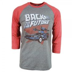 Mens Back to the Future Raglan T Shirt Grey – Buy Movie and Film... ($31) ❤ liked on Polyvore featuring men's fashion, men's clothing, men's shirts, men's t-shirts, men, mens gray dress shirt, mens t shirts, mens grey t shirt, mens grey shirt and mens raglan t shirt