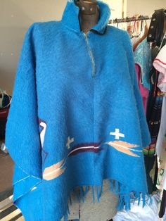 Vintage very Old Poncho by ReynasCloset on Etsy