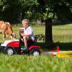 Mähwerk für Kinder, Spaß im Freien, Holzspielzeug, Traktoranhänger Pöttinger