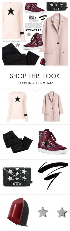 """""""Twinkle Twinkle: Star Outfit"""" by jan31 ❤ liked on Polyvore featuring Bella Freud, Avon, Lola Cruz, Rebecca Minkoff, Bobbi Brown Cosmetics, Gucci, rippedjeans, sweaters, sneakers and StarOutfits"""
