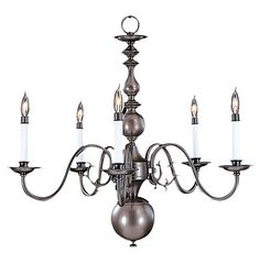 View The Framburg Fr 9125 Williamsburg 5 Light Up Lighting Chandelier From Jamestown Collection At