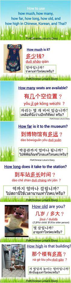 wieviel auf Chinesisch
