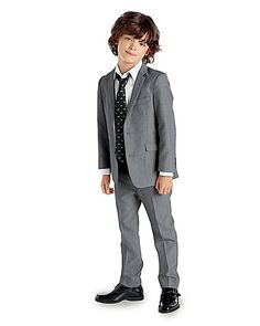 Chasing Fireflies Boys Gray Suit | #boys #fashion