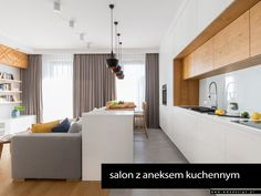 Open Kitchen And Living Room, Kitchen Room Design, Modern Kitchen Design, Home Decor Kitchen, Interior Design Kitchen, Kitchen Rules, Cuisines Design, Apartment Kitchen, Luxurious Bedrooms