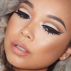 Neutral colors, bold look! Eyeshadow #makeup #eyeliner #makeuplooksvintage