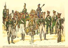 Artillery 1812: Guard Horse (1,5), Guard Foot (2,3,4,6), Line  Foot ( 7,9,10) Cossack Horse (8),Guard Sapper (11), Guard Pioneer (12). Louis de Beaufort