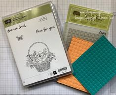 Stampin' Up!  Blossoming Basket Weave Sneak Peek for the Happy Inkin' Thursday Blog Hop