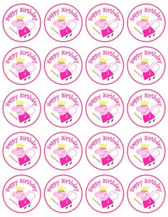 Instant Download Peppa Pig Favor Tag/Circle labels by AnnaPadgettDesign on Etsy https://www.etsy.com/listing/198428178/instant-download-peppa-pig-favor