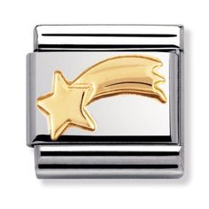Official Nomination CLASSIC Gold Daily Life Shooting Star Charm from The Jewel Hut. Over products. Nomination Charms, Nomination Bracelet, Stars Craft, Star Wars, Fall Jewelry, Gold Jewellery, Silver Jewelry, Classic Gold, Star Sky
