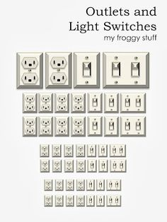 Printable Dollhouse Outlets and Light Switches with directions on how to print