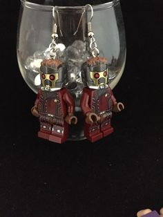 Guardians Of The Galaxy Star Lord Earrings Mini Figures