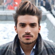Mariano Di Vaio - dark brown with light blonde highlights Men Blonde Highlights, Brown Hair With Highlights, Brown Blonde Hair, Mens Hair Colour, Hair Color Shades, Hair Color Dark, Hair Colors, Boys Colored Hair, Hair And Beard Styles