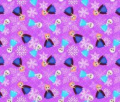 Frozen Purple fabric by muneca on Spoonflower - custom fabric