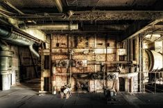 Berlin-based photographer Axel Hansmann has managed to coax the charm out of grim settings and depict forgotten structures from the communist era of the former East Germany. Another image of the former East German power plant.