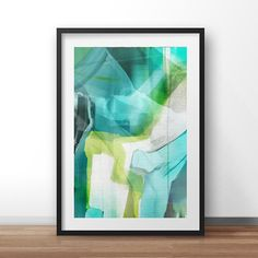Abstract Art, Marine sea colours, Digital Download, Aqua colours, modern wall art, hand painted acrylic print, sea, marine colours