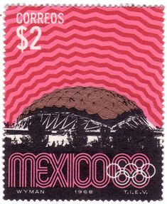 Olympic postage stamps for Mexico by Lance Wyman Mexico Olympics, 1968 Olympics, Branding, Lance Wyman, Mexico 68, Love Stamps, Vintage Stamps, Mexican Art, Stamp Collecting