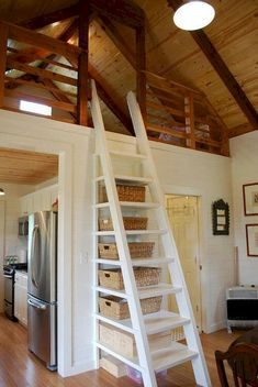 Clever Tiny House Loft Stair Ideas (41)