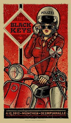 #illustration #chicasmoteras | caferacerpasion.com