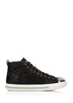 Miu Miu Black Glitter Sneakers Sneakernews Prix Pas Cher Le Plus Grand Fournisseur De Réduction EAodyi