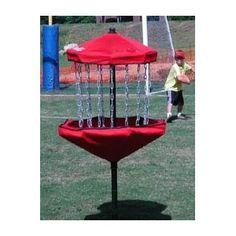 """""""How epic is this Frisbee golf basket? Makes me wanna hit the park and frolf it up ASAP! I'm not gonna buy it though. It would totes turn me into a frolfoholic."""" - Andy Bernard"""