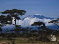 Kenya, Mount Kilimanjaro Photographic Print by Michele Burgess at Art.com