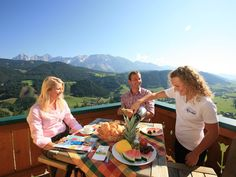 Breakfast at the terrace with great panoramic view Terrace, Breakfast, Summer, Balcony, Morning Coffee, Summer Time, Patio, Decks, Outdoor Cafe